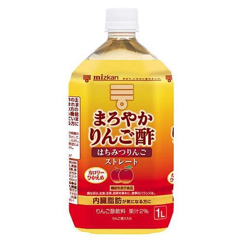 ミツカン まろやかりんご酢 はちみつりんご ストレート 1Lペットボトル×6本入×(2ケース)
