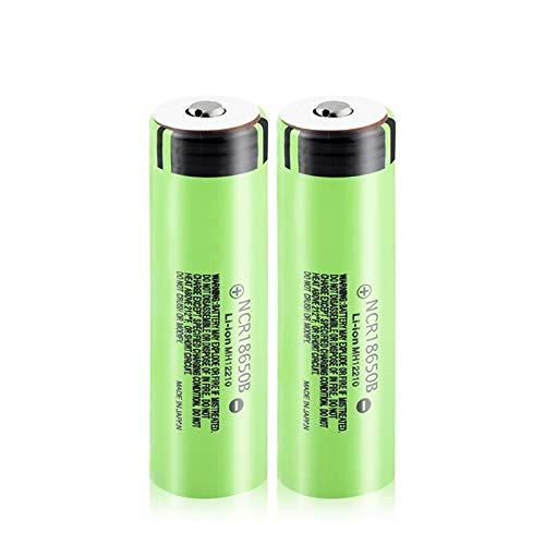WSXYD Batería De Iones De Litio De Litio De 3.7v Ncr18650b 3400mah, Batería Superior De Botón De Iones De Litio 20a para Mini Antorcha 2Pcs