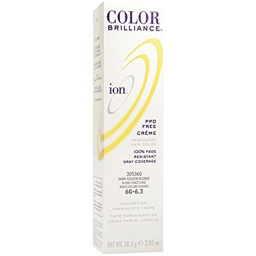 Ion 6G Golden Blonde Permanent Creme Hair Color 6G Dark Golden Blonde
