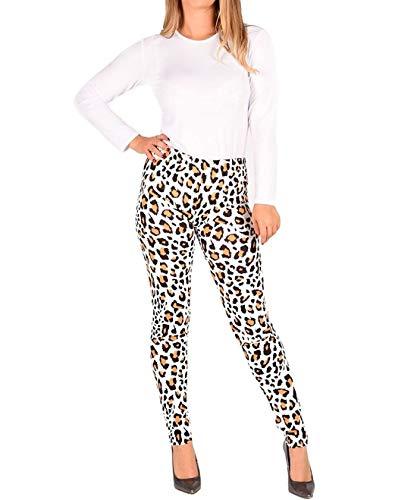 Islander Fashions dames luipaard en slang gedrukt minirok legging body en figuurbenadrukte jurk klein/XX Large