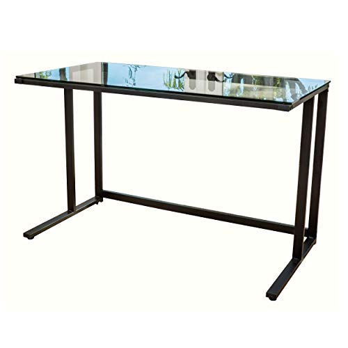 Christopher Knight Home Eghan Tempered Glass Computer Desk, Black