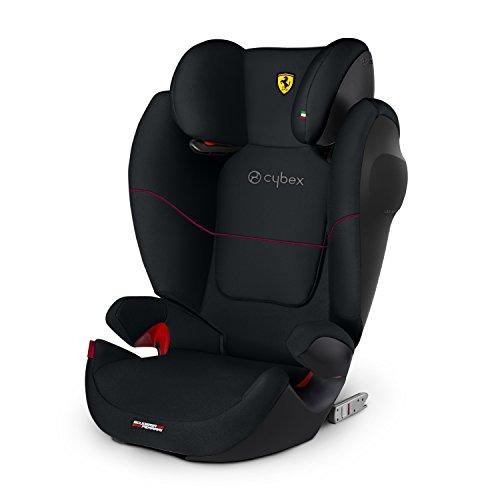 Cybex Silla de coche grupo 2/3, Solution M-Fix SL, Para coches con y sin Isofix, Grupo 2/3 (15-36 kg), Desde los 3 hasta los 12 años, Negro (Victory Black)