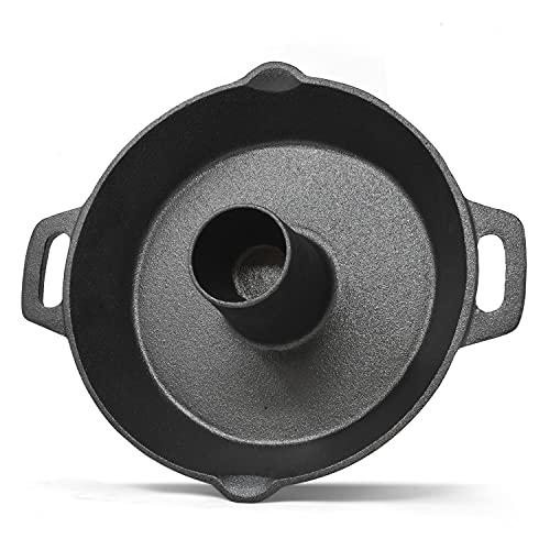 Soporte para asador de pollos de 28 cms, soporte para asador giratorio para barbacoa para comidas saludables como pollo, aves, kebabs y más.