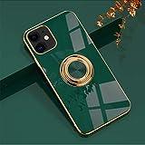 yaya case pour iPhone 12 Mini 5,4'Coque, Coque de Protection en Silicone Souple TPU,avec Bague...