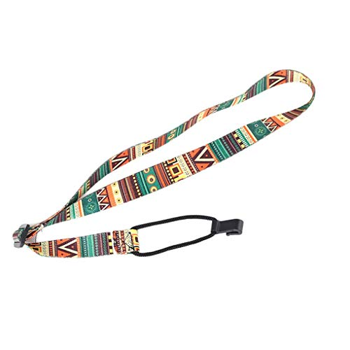 Kongnijiwa Gitarrengurt ethnischen Muster justierbares Nylon Clip auf Ukulele Bügel Gurt Haken Gitarren Sling Zubehör