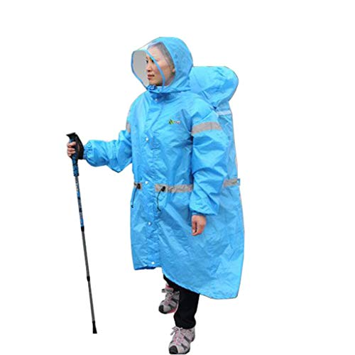 QIYUEYU Adulti All'aperto Raincoat Uomini E Donne Antipioggia Impermeabile Ultralight Zaino Un Pezzo Raincoat Poncho Adatto for La Pesca Outdoor Viaggio Camping (Color : D, Size : S)