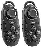 auvisio Joystick: 2er-Set Mini-Akku-Game-Controller und Fernbedienung, Bluetooth (Controller PC)