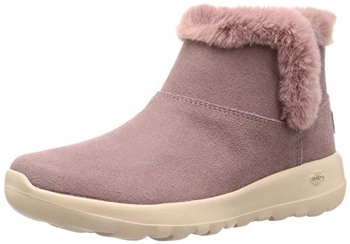 Skechers On The GO Joy Bundle Up Womens Ankle Boots Lilac 9 Pink