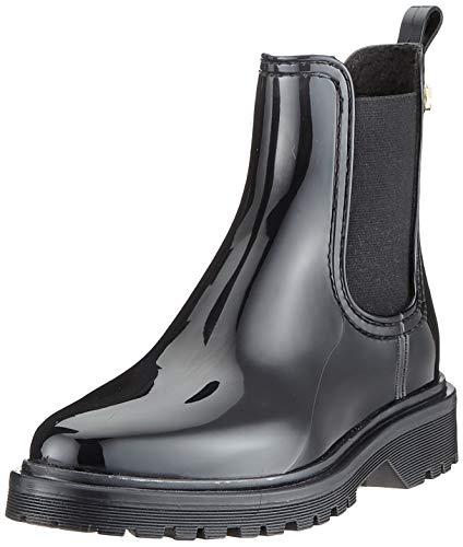 Lemon Jelly Damen Warm Block Chelsea Boots, Schwarz (Black 01), 38 EU