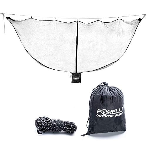 Foxelli XL Hammock Net – 12ft Net for Hammocks, Lightweight Portable Hammock Netting, Fast and Easy Set Up, Fits All Camping Hammocks