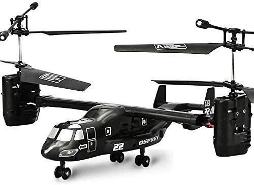 MUZoo Fernbedienung Flugzeug Hohe Simulationssteuerung Fern Osprey Hubschrauber 2,4 GHz, 4.5-Kanal Elektro-Hubschrauber-Spielzeug, mit LED-Leuchten Robuste Anti-fällt RC Flugzeug-Modell for militärisc