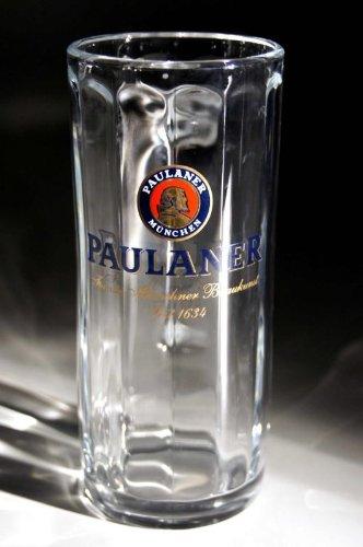 Paulaner Taza de cerveza de jarra de cerveza (2 unidades) 0.5L (diseño del Bayern de PAULANER) plus 2 posavasos para cerveza
