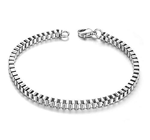 ANAZOZ sieraden roestvrij staal heren schakelarmbanden zilveren box