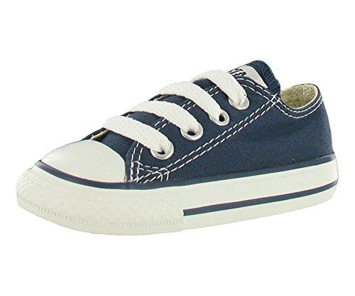 Converse Chuck Taylor All Star, Zapatillas de Lona Infantil, Azul (Blue Marine), 18 EU (2 UK)