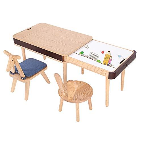 ROGF Escritorio para niños Mesa elevadora y sillas for Niños Niñas Juego Escritorio niños Los niños Mesa de Estudio Lerning Escritorio y sillas Ideal para Uso en Habitaciones Infantiles
