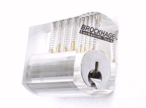 Clear Plastic Practice Lock (Standard Top Pins)