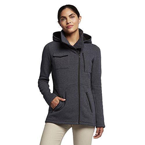 Hurley Women's Winchester Hoodie Asymmetrical Full Zip Fleece, Black Heather, Small