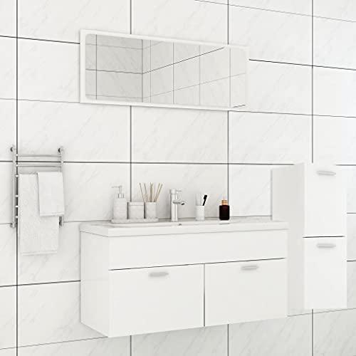 FAMIROSA Conjunto de Muebles de Baño Aglomerado Blanco -1477
