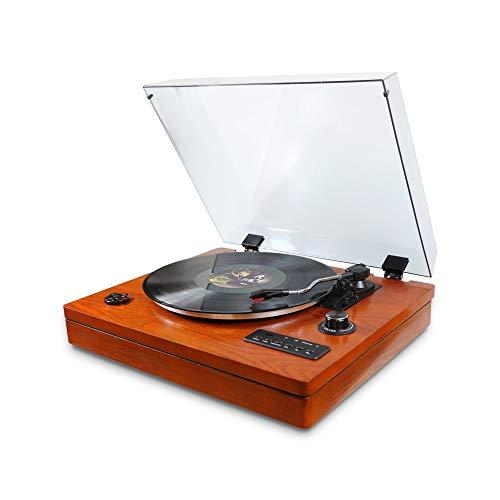 XFSE Decoración para el hogar Gramófono de madera, caja magnética retro, altavoz...