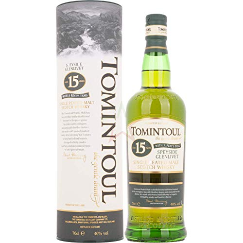 Tomintoul 15 Years Old Single Peated Malt Scotch Whisky WITH A PEATY TANG Whisky ( x 0.7)