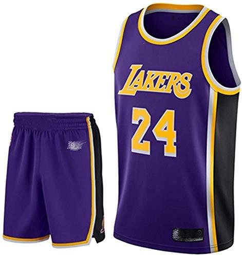 Camiseta De Baloncesto para Hombre Kobe No. 24 Los Angeles Lakers Traje De Baloncesto Deportivo Malla Transpirable Swingman Jersey Chaleco Pantalones Cortos Traje,A-XXS