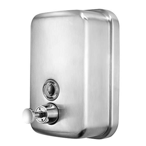 LEMON CLOUD Dispensador de jabón Montaje en Pared - Superficie de Acero Inoxidable Cepillado, Prueba de óxido, Prueba de Fugas, Dispensador de Loción, para Cocinas, Baños, Hoteles, etc.500ml