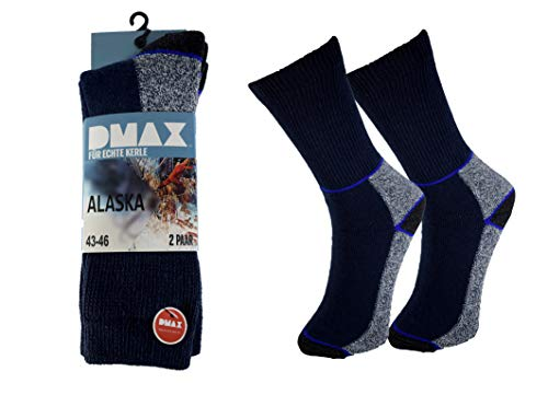 DMAX Alaska Thermosocken für echte Kerle - 4|6|12 Paar - wahlweise in Schwarz, Anthrazit, Blau und drei Größen 39-42/43-46/47-50 (39-42, 4 Paar Blau)