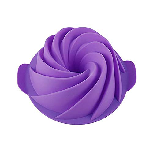 SHEbaking Silicone Bundt Cake Baking Molds - Nonstick Bundt Cake Pan for Gelatin, Jello, Mousse - 9 Inch