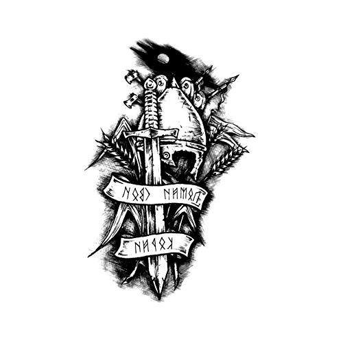 EROSPA® Tattoo-Bogen / Sticker temporär - Unsterblicher Ritter / Immortal Knight