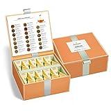 Teekiste von Tea Forté mit 40 Handgefertigten, Pyramidenförmigen Kräuterteebeuteln zum Probieren,...
