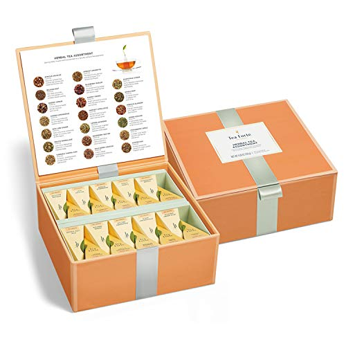 Tea Forte Tea Chests with 40 Handcrafted Pyramid Tea Infusers (Herbal Tea)