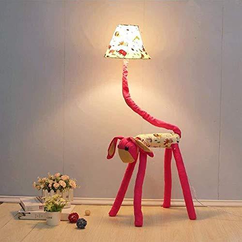 GUOSHUCHE Lámpara de pie de De pie luminarias chica de cumpleaños creativos del paño de la cortina Presente alta transmitancia alumnos de primaria Literatura Infantil y arte práctico del bulbo vertica