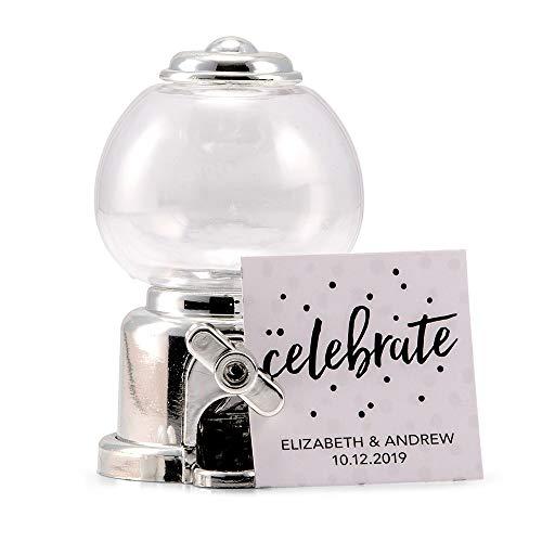 Lege machine voor kauwgom, zilverkleurig, details voor de decoratie van bruiloften, jubilea, communie, verjaardagsfeesten.