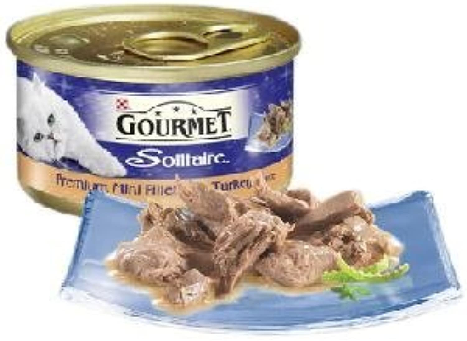 Gourmet Solitaire Can Premium Fillets with Turkey in Sauce 85g