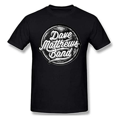 Dave Matthews Band Nero Tempo Libero Puro Cotone Top Moda Mens T-Shirt Nero L