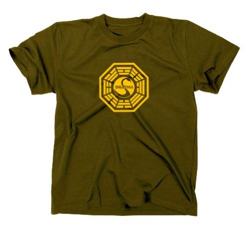 Lost T-Shirt Station 3 Dharma Initiative, Oliv, XL