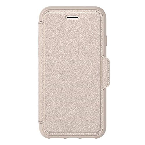 OtterBox Strada Series Case for iPhone 8 & iPhone 7 (NOT Plus) - Bulk Packaging - Soft Opal (Pale Beige/Pale Beige Leather)