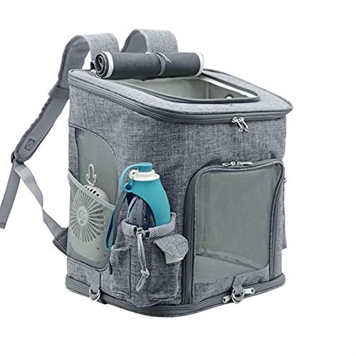 Die Space Capsule Cat Bag trifft die Airline-Vorschriften. Der Haustierbeutel mit belüftetem innerem Sicherheitsgurt, dem vergrößerten Pet-Rucksack in L-Größe, der faltbare PET-Tasche. Die Raumkapsel-