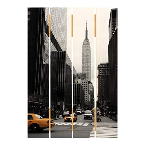 Bilderwelten Cuadro de Madera - Empire State Building 70x48cm
