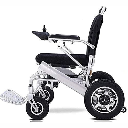FC-LY Deluxe Electric Rollstuhl motorisierter klappbarer Netzstuhl, Leichter Folding-Tragen elektrischer Rollstuhl, Leistungsstarker Dualmotor, älter und behindert
