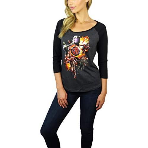 Marvel Womens Avengers Graphic 3/4 Sleeve Raglan