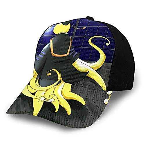 Assassination Classroom Koro Sensei Cartoon Anime Gorra de béisbol clásica Sombrero de Moda Informal Sombrero de Camionero Sombrero de papá Sombrero para el Sol Unisex Ajustable Negro