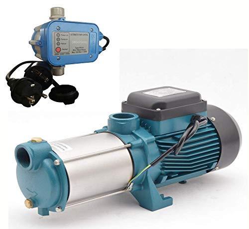 IBO / CHM Gartenpumpe Kreiselpumpe MHI2200 INOX + Steuerung PS-01 mit Trockenlaufschutz - Leistung: 2200W - Spannung: 230 V / 50 Hz 10800 L/h - 180l/min. Max. Druck 6 bar. Laufräder aus Edelstahl.