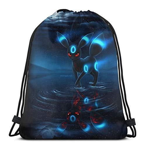 Multifunctional drawstring bag backpack handbag shoulder bag sports bag basketball fitness travel unisex Poke-Mon Ee-V-Ee Pika-Chu