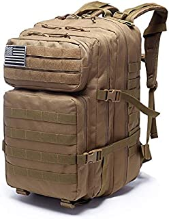 Haihui Mochila militar de montañismo, mochila de campo, supervivencia al aire libre, caza, duradera, práctica, resistente al agua 800D, tejido Oxford cifrado de 40 l