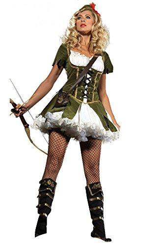 shoperama Robin Hood 2 Damen Kostüm Peter Pan Fasching Karneval Märchen sexy, Größe:M/L