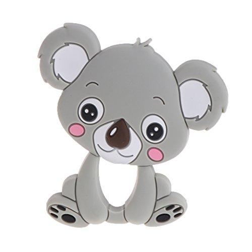 exing bebé Mordedor silicona nette Koala infantil Enfermedades juguete Collar recién nacidos kauen Cuidado gris gris