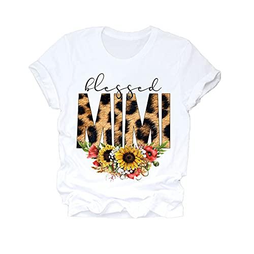 shirts Mujeres 2020 dibujos animados Super Mamá Vida Momlife Verano Impresión Señora T Top T Señoras Gráfico Mujer T