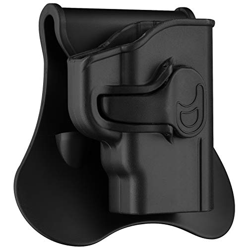 Polymer OWB Holster for S&W M&P Bodyguard 380 with Integrated Crimson Trace Laser / No Laser - Index Finger Released | Adjustable Cant | Autolock | Outside Waistband | Right Handed