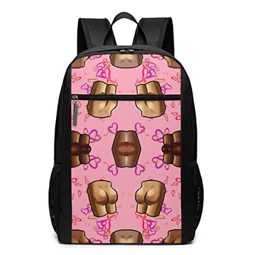 ZYWL Butt Pattern Fabric (2960) Rucksack, Business Durable Laptop Rucksack, Wasserbeständige College School Computer Tasche Geschenke für Männer Frauen, 17in x 12in x 6in, schwarz